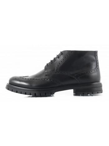 Ботинки-броги осенние кожаные PRODOTTO ITALIANO (ИТАЛИЯ) 2747 черные