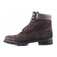 Ботинки осенние замшево-кожаные PRODOTTO ITALIANO (ИТАЛИЯ) 2750 темно-коричневые