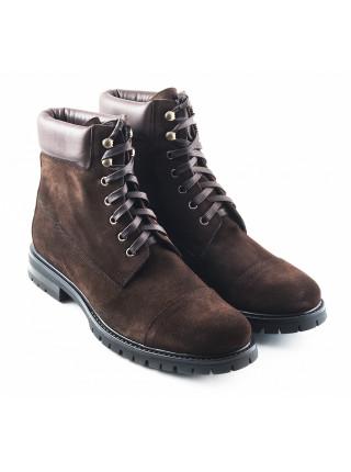 2750 PRODOTTO ITALIANO (Italy) Ботинки осенние замшево-кожаные темно-коричневые