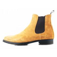 Ботинки осенние замшевые PRODOTTO ITALIANO (ИТАЛИЯ) 2754 светло-коричневые