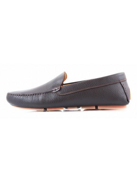 Мокасины кожаные GIANROS (Italy) 2763 коричневые