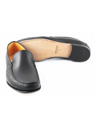 Мокасины кожаные GIANROS (Italy) 2774 черные