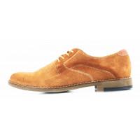 2789 BADURA (Poland ) Туфли нубук светло-коричневые
