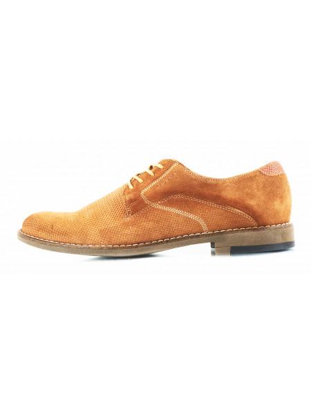 Туфли нубуковые BADURA (Poland ) 2789 светло-коричневые