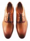 Туфли кожаные CONHPOL DYNAMIC (Poland ) 2801 светло-коричневые