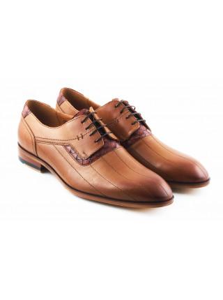 2801 CONHPOL (Poland ) Туфли кожаные светло-коричневые