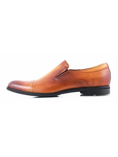 2804 CONHPOL (Poland ) Туфли кожаные светло-коричневые на резинке
