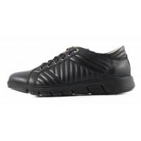 Кроссовки кожаные CONHPOL DYNAMIC (Poland ) 2828 черные