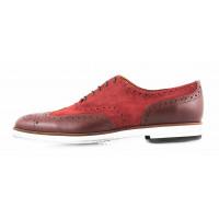 2847 CONHPOL (Poland ) Туфли замшево-кожаные коричневые