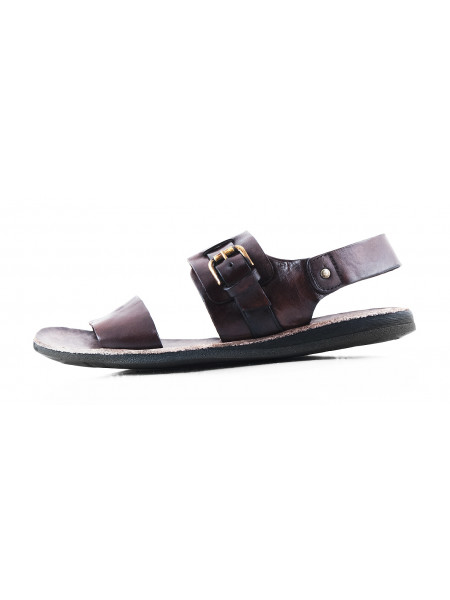 Сандали-винтаж кожаные DANIELE POLIDORI (ИТАЛИЯ) 2855 темно-коричневые