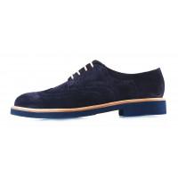 2871 BEFEETGERALD (Italy) Туфли-броги замшевые темно-синие