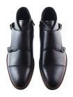 2889 RYLKO (Poland ) Ботинки-монки осенние кожаные черные