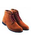Ботинки осенние нубуково-замшево-кожаные RYLKO (Poland ) 2890 рыже-темно-бежевые
