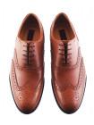 Туфли-броги кожаные CONHPOL DYNAMIC (Poland ) 2906 светло-коричневые