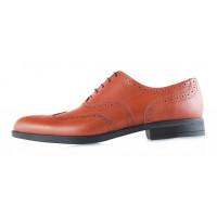 2906 CONHPOL (Poland ) Туфли-броги кожаные светло-коричневые