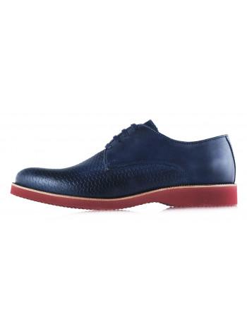 Туфли кожаные BEFEETGERALD (Portugal) 2930 темно-синие
