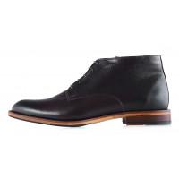 2943 CONHPOL (Poland ) Ботинки осенние кожаные темно-коричневые
