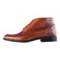 2944 CONHPOL (Poland ) Ботинки осенние кожаные светло-коричневые