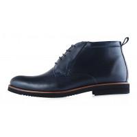 2948 CONHPOL (Poland ) Ботинки осенние кожаные темно-синие