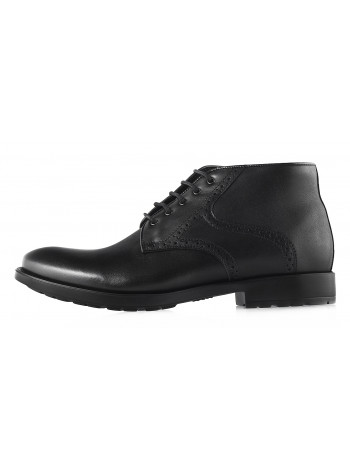 Ботинки осенние кожаные CONHPOL DYNAMIC (Poland ) 2953 черные