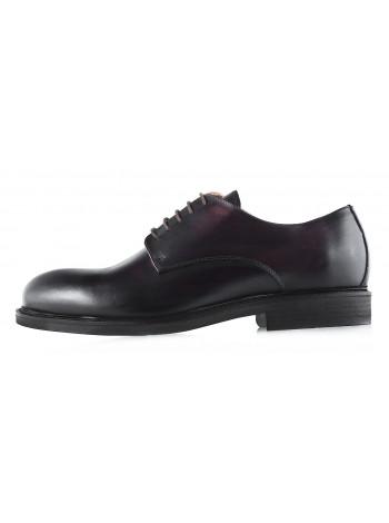 Туфли кожаные DASTHON (ИТАЛИЯ) 2956 темно-коричневые