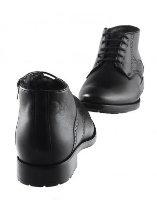 Ботинки зимние кожаные CONHPOL DYNAMIC (Poland ) 2966 черные
