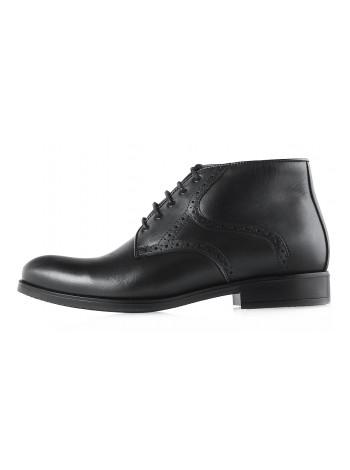 Ботинки зимние кожаные CONHPOL DYNAMIC (Poland ) 2969 черные