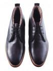 Ботинки зимние кожаные DASTHON (ИТАЛИЯ) 2975 темно-серые