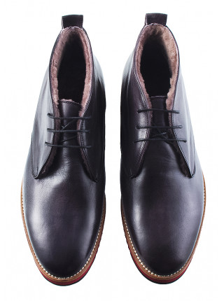 2975 DASTHON (Italy) Ботинки зимние кожаные темно-серые
