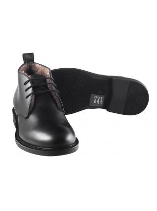 Ботинки зимние кожаные DASTHON (ИТАЛИЯ) 2976 черные