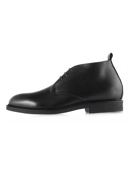 2976 DASTHON (Italy) Ботинки зимние кожаные черные