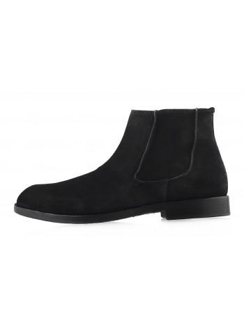 Ботинки осенние замшевые ADOLFO CARLI (ИТАЛИЯ) 2983 черные