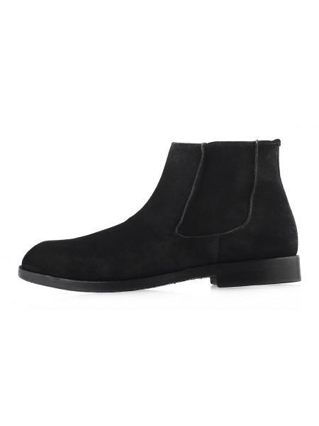 2983 ADOLFO CARLI (Italy) Ботинки осенние замшевые черные
