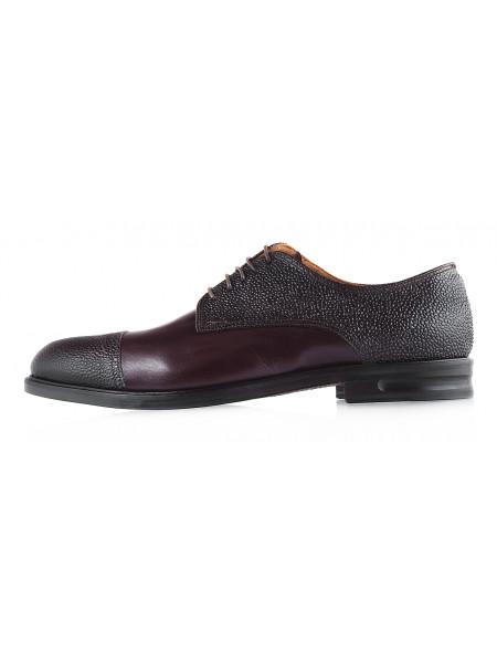 2985 ADOLFO CARLI (Italy) Туфли кожаные темно-коричневые