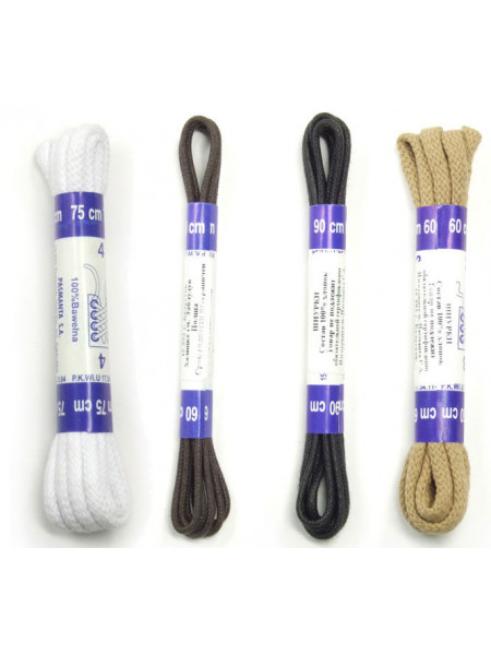 3148 CORBBY (Poland ) Шнурки круглые толстые с пропиткой 60см.