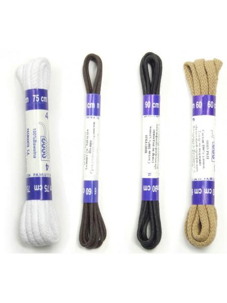 3157 CORBBY (Poland ) Шнурки круглые толстые с пропиткой 100см.