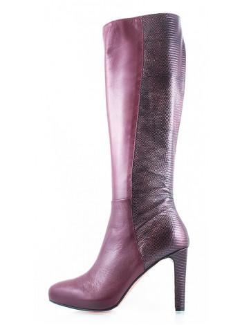 Сапоги осенние кожаные 1,618 (Italy) 10416 бордовые