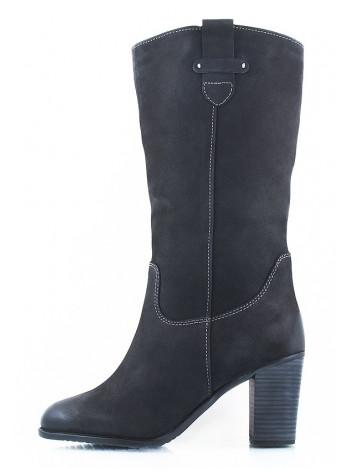 10430 TAMARIS (Germany) Сапоги зимние нубук черные