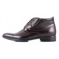 2430 CONHPOL (Poland ) Ботинки осенние кожаные темно-коричневые