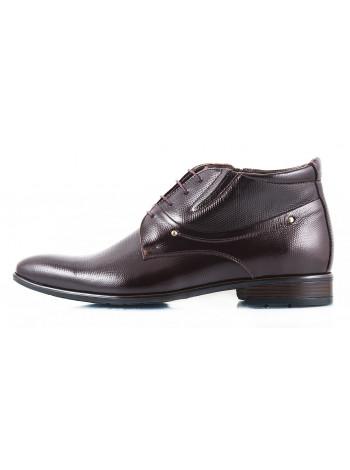 Ботинки осенние кожаные CONHPOL DYNAMIC (Poland ) 2430 темно-коричневые
