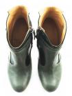 10457 J.J.HEITOR SHOES (Portugal) Ботильоны осенние кожано-лаковые зеленые