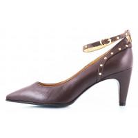 10466 LADY DOC (Italy) Туфли кожаные темно-коричневые