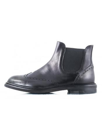 Ботинки-броги осенние кожаные OFFICINE FIORENTINE (ИТАЛИЯ) 2461 черные