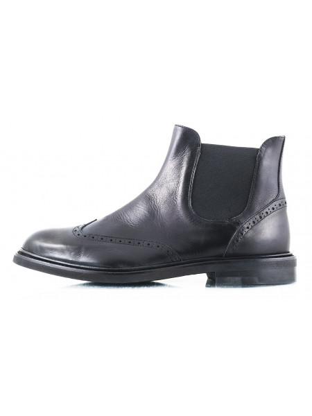 2461 OFFICINE FIORENTINE (Italy) Ботинки-броги осенние кожаные черные