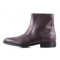 Ботинки осенние кожаные OFFICINE FIORENTINE (ИТАЛИЯ) 2462 темно-коричневые