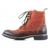 Ботинки осенние кожаные AMBITIOUS (Portugal) 2471 коричневые