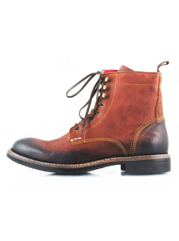 2471 AMBITIOUS (Portugal) Ботинки осенние кожаные коричневые