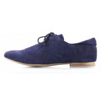 Туфли-дерби замшевые на шнурках сетка несквозная CAPRICE (Germany) 10495 темно-синие