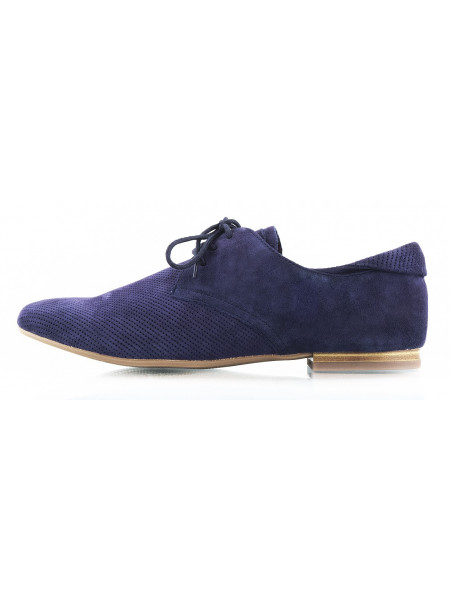 10495 CAPRICE (Germany) Полуботинки весенние замшевые сетка несквозная темно-синие на шнуровке
