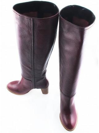 10542 HISTORY (Italy) Сапоги весенние кожаные бордо